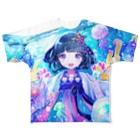 きあとのジェリーフィッシュ+. Full graphic T-shirts