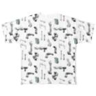 Yusuke SAITOHのダクトがたくさん フルグラフィックTシャツ