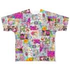 ボールペン画のイラストレーター・白石拓也のカラフルに~ Full graphic T-shirts