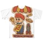SZK GALLERYのおもちゃ屋少年2 Full graphic T-shirts