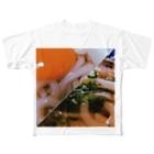 galah_addの平成さいごと令和さいしょのおうどん Full graphic T-shirts