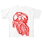 yukino-hiのめんそーれ沖縄赤花 Full graphic T-shirts
