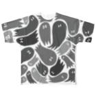 wakame.monsterのおばグレー Full graphic T-shirts