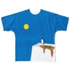 キューブ・ザ・双頭のやわらかい氷 Full graphic T-shirts