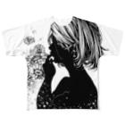 クロセシンゴのオリジナルTシャツ 「ガーベラの子」 Full graphic T-shirts