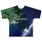 WEAR YOU AREの宮城県 牡鹿郡 Tシャツ 両面 Full Graphic T-Shirt