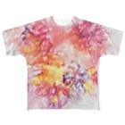 Akiyoのフィレンツェ画房 のPinkFluidFlowers Full graphic T-shirts