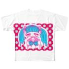 嘔吐屋本舗のぴえんちゃん Full graphic T-shirts