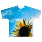 KAB.グッズショップの真夏のひまわり Full graphic T-shirts