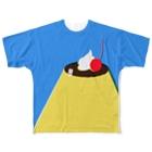 かわしまさきのおやすみプリン Full graphic T-shirts