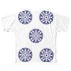 承香院(じょうこういん)オリジナルグッズの臥蝶の丸紋グッズ(承香院) Full graphic T-shirts