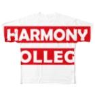 HarmonyCollege_Osyan-T-shirtのシンプルハーモニィカレッジ Full graphic T-shirts