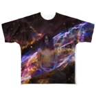 xsotaショップのspace yoga Full graphic T-shirts