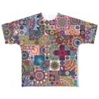 ネイティブ柄専門ショップのオルテガ柄C Full graphic T-shirts