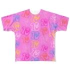 歌うバルーンパフォーマMIHARU✨〜あいことばは『笑顔の魔法』〜😍🎈の10周年記念Tシャツ💝10ロゴ💝 Full graphic T-shirts