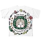 ほっかむねこ屋@ 3/9--3/16 吉祥寺駅の〜からくさねこ〜 we love minamata フルグラフィックTシャツ