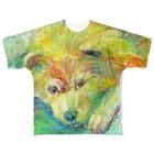 HesperiidaeのきいろのイヌフルグラフィックTシャツ