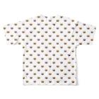 うめぼしのドット風ウニ(white) Full graphic T-shirtsの背面