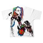 Studio MOONのマグナムガール Full graphic T-shirtsの背面