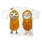 ねこぜや のROBOBO 福ちゃんロボ Full graphic T-shirtsの背面