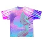 キラモンのフランちゃんのお店の繧�a縺九o繝輔Λ繝ウ縺。繧�s Full graphic T-shirtsの背面