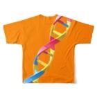 Daichi Sugimoto🦑3D ArtistのDNA Full graphic T-shirtsの背面
