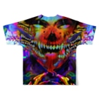 Salem MeatyardのEARTHQUAKE Full graphic T-shirtsの背面
