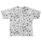 uchukunのchara!chara!chara! Full graphic T-shirtsの背面