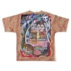 プリン先輩のお店の交通事故ニャ♪ Full graphic T-shirtsの背面
