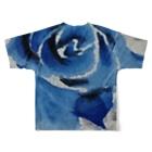 水墨絵師 松木墨善の墨×青薔薇 Full graphic T-shirtsの背面