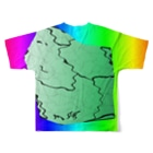 水草のMAPたん4 Full graphic T-shirtsの背面