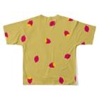 No-ticca公式オリジナルグッズのいしやーきいも、いも Full graphic T-shirtsの背面