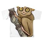 すとろべりーガムFactoryのターシャ (メガネザル) Full graphic T-shirtsの背面