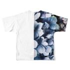yanagiのhydrangea Full graphic T-shirtsの背面