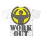 AURA_HYSTERICAのWorkout Full graphic T-shirtsの背面