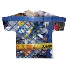 SZUKIの渋谷のゴミ Full graphic T-shirtsの背面