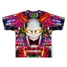 VULGAR FACTORYの卍卍極neon道卍卍 Full graphic T-shirtsの背面