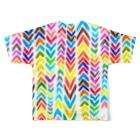 megunicoのカラフルあみめ Full graphic T-shirtsの背面