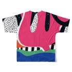 SANKAKU DESIGN STOREのビビッド三叉なモダンアート。 Full graphic T-shirtsの背面