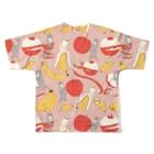 ソーメンズのかわうそとばななとりんご Full Graphic T-Shirtの背面