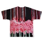 水墨絵師 松木墨善の墨 曼珠沙華×落款 Full graphic T-shirtsの背面