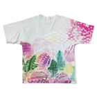peonicの芍薬桃苺 Full graphic T-shirtsの背面
