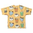 ゴキゲンサンショップの純喫茶 Full graphic T-shirtsの背面