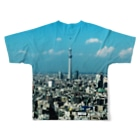 DOMMUNEの蜷川実花 X DOMMUNE|TOKYO TOWER SKYTREE T-shrts Full graphic T-shirtsの背面