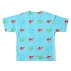 ムエックネの金魚 Full graphic T-shirtsの背面