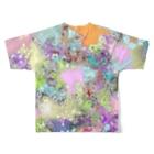 taketakekoの自由 Full graphic T-shirtsの背面