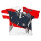 iTAChocoSystemsのイタチョコ会派表現者T Full graphic T-shirtsの背面