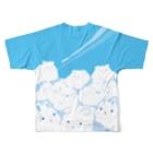 大賀一五の店の巨兎雲が来た Full Graphic T-Shirtの背面