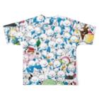 ラビット・ユキネのちゃぶ台商店のフルグラ・ユキネTシャツ(大集合Ver.)  Full graphic T-shirtsの背面