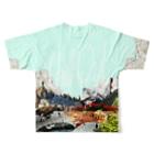 詰めろのチルアウトver.2.0 Full graphic T-shirtsの背面